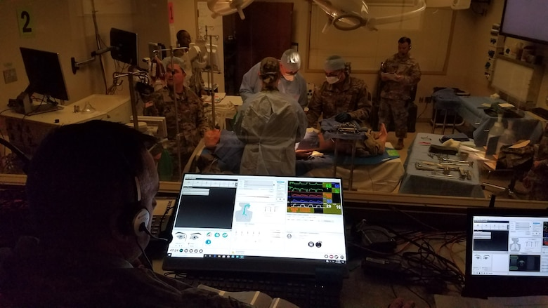946th and 936th Forward Surgical Teams advance communication in preparation for upcoming deployments is completing TeamSTEPPS training at the Mayo Multidisciplinary Simulation Center in Rochester, Minn.