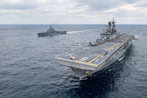 USS America, JS Kunisaki Operate in East China Sea