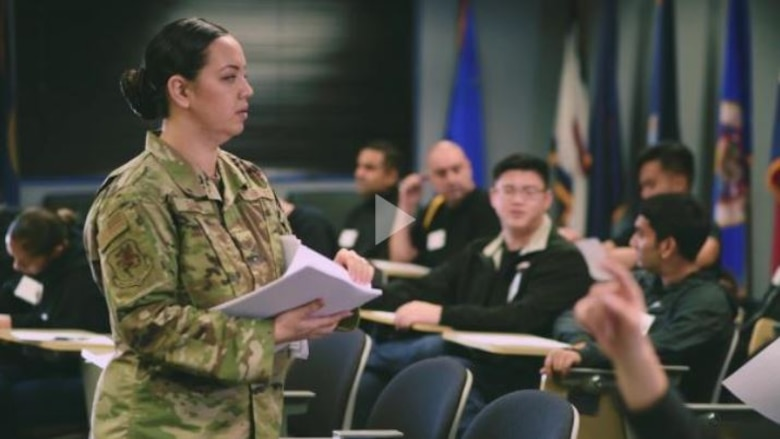 Tech. Sgt. Danielle Eaton, assigned as the 349th Air Mobility Wing Development & Training Flight Chief reflects on how her contributions helped prepare future citizen airmen.