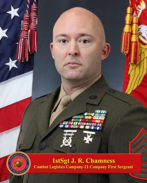 First Sergeant Justtin R. Chamness