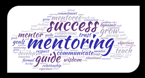wordcloud of mentoring terms