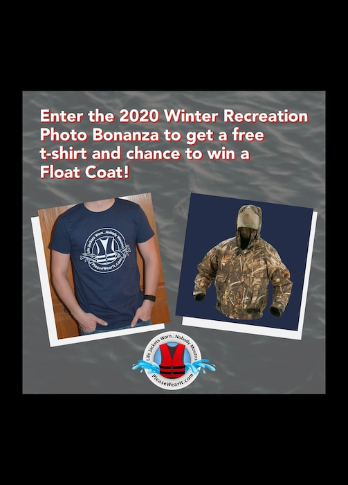 Win a FREE Float Coat! To enter it is as easy as 1-2-3.   1) You must be at least 18. 2) Snap a photo of yourself wearing a life jacket during the winter. 3) Upload your photo & information, including why you wear a life jacket at the link below!