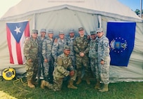 """U.S. Airmen with the Puerto Rico Air National Guard support """"tent cities"""" sheltering victims of the earthquakes that shook the island in December 2019 and January 2020."""