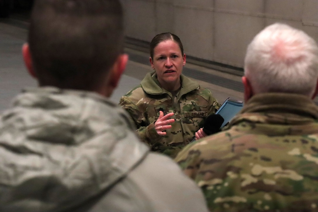 20th Air Force, Air Force Global Strike Command and 341st Missile Wing leadership are informed of operations on a future Missile Maintenance Dispatch Facility.