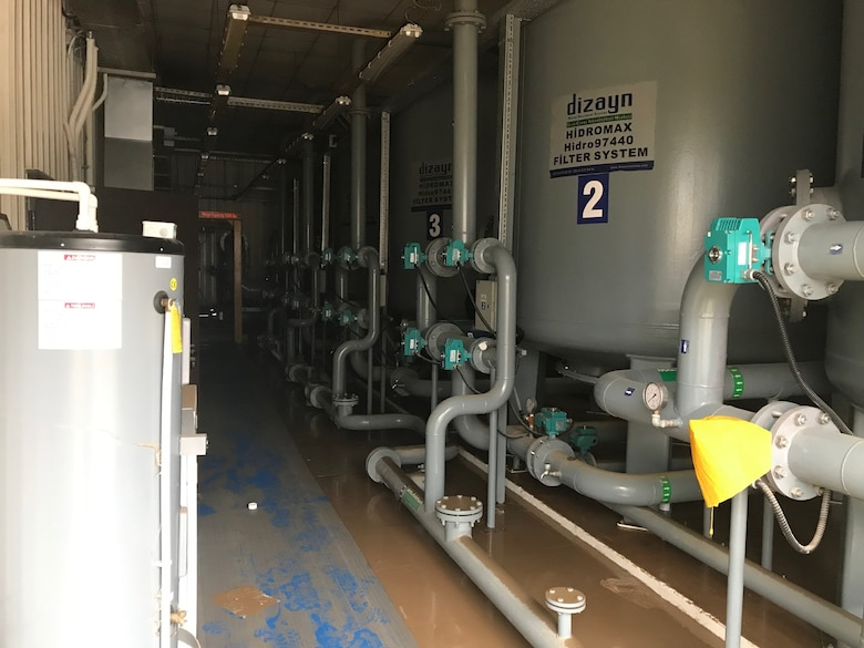 The water treatment plant is seen here after the flood Dec. 25, 2019, at Incirlik Air Base, Turkey. Even after the water drained, more cleaning was required to return the facility to normal operations. (Courtesy Photo)