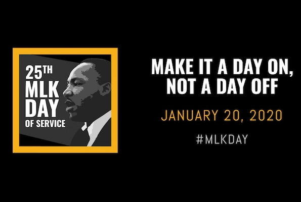 Graphic promoting MLD Day of Service