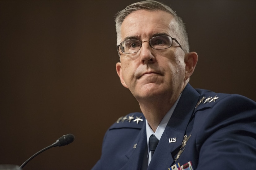 General testifies in Senate hearing.