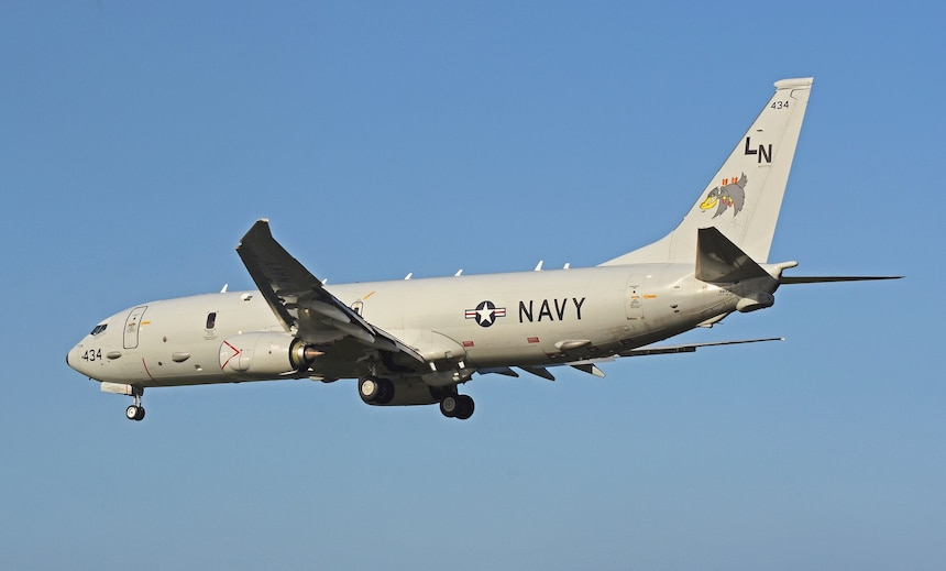 Official U.S. Navy file photo of a P-8A Poseidon aircraft from Patrol Squadron (VP) 45.
