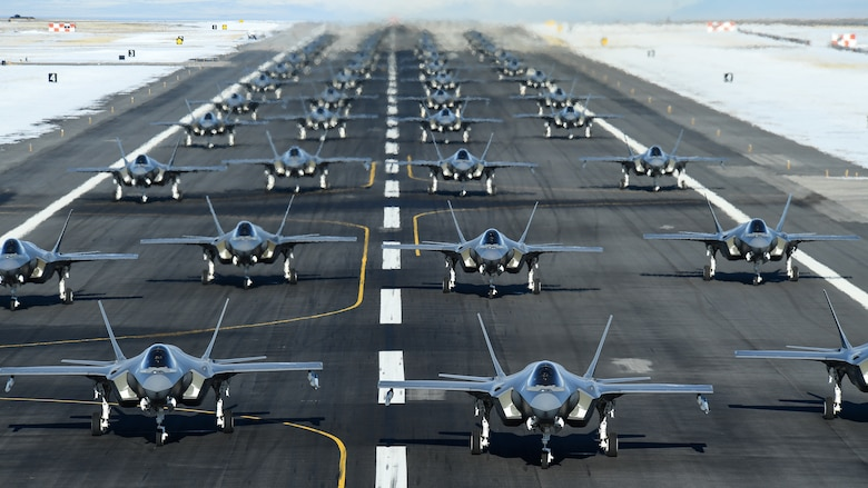Fighter Wings conducted an F-35 Lightning II Combat Power Exercise