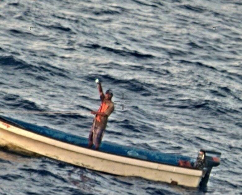 COAST OF GUAM (Jan. 17, 2020) Patrol Squadron 45 Sailors conduct a Search and Rescue (SAR) of the coast of Guam, dropping a search and rescue kit to a stranded fisherman of the coast of Guam 17JAN2020