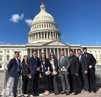 Members of the Advanced Tactical Acquisition Corps Team 7 on Capitol Hill for meetings with government leaders. ATAC selects talented acquisition professionals for leadership development, training and the opportunity to work as a team to find solutions to Air Force and Department of Defense challenges.
