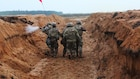 1st Battalion, 9th Cavalry Regiment participates in a trench clearing exercise in Lithuania.