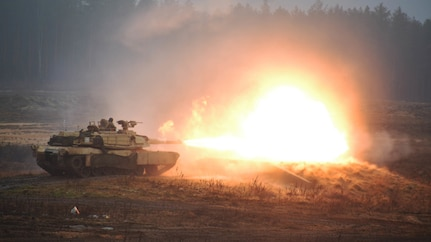Atlantic Resolve:  2nd Armored Brigade Combat Team live fire range in Lithuania