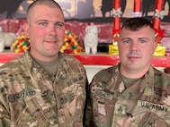 Two brothers deployed to Southwest Asia have made careers in the Indiana Army National Guard, but this is the first time they have deployed at the same time.