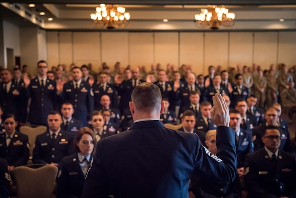 The 944th Fighter Wing Top III hosted a noncommissioned officer and senior noncommissioned officer induction ceremony January 12 at Luke Air Force Base, Arizona.