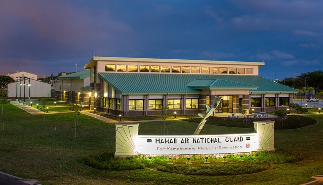 F-22 Flight Simulator building at Joint Base Pearl Harbor Hickam, Hawaii