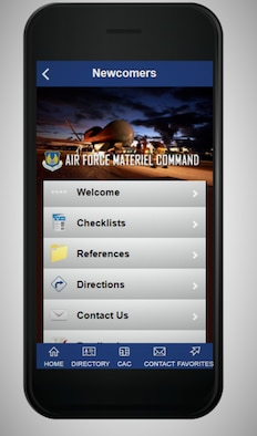 A new mobile application for new hires aims to help new employees navigate the 'must-dos' during the first few weeks of work. The application includes checklists, maps of key base locations, informational documents on benefits, Air Force culture information and more. The mobile application is available on the Air Force Connect platform as part of the Air Force Materiel Command presence. (U.S. Air Force courtesy graphic)