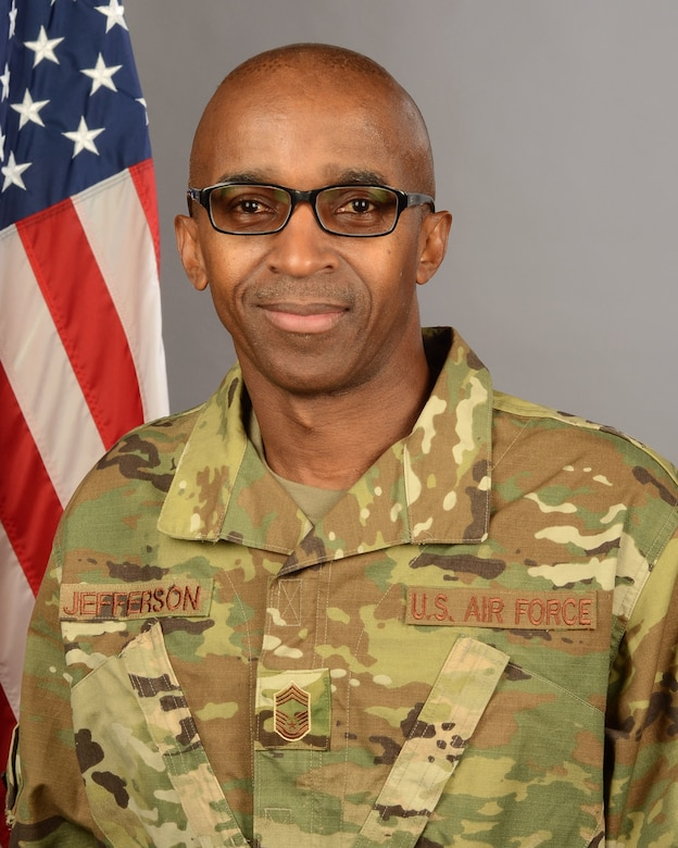 Portrait of U.S. Air Force Chief Master Sgt. James Jefferson, assigned to the 169th Logistics Readiness Squadron at at McEntire Joint National Guard Base, S.C., Dec. 19, 2019.