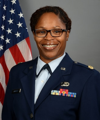 Portrait of U.S. Air Force Maj. Marian Burgess, comptroller assigned to the 169th Fighter Wing, at McEntire Joint National Guard Base, S.C., June 11, 2019.