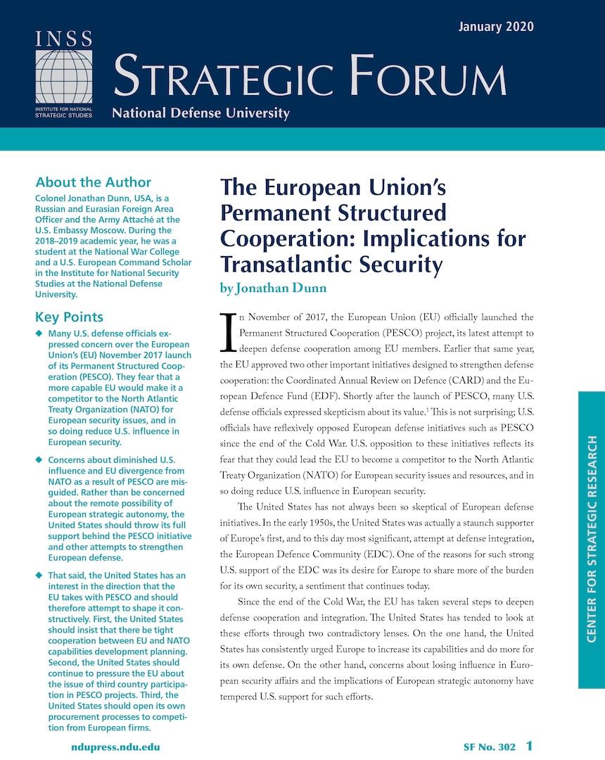 Strategic Forum 302
