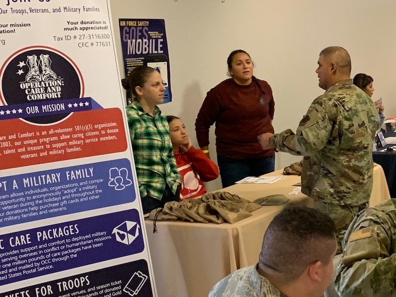 The 144th Fighter Wing hosted a Charity Fair on base as part of its Combined Federal Campaign Dec. 12, 2019.