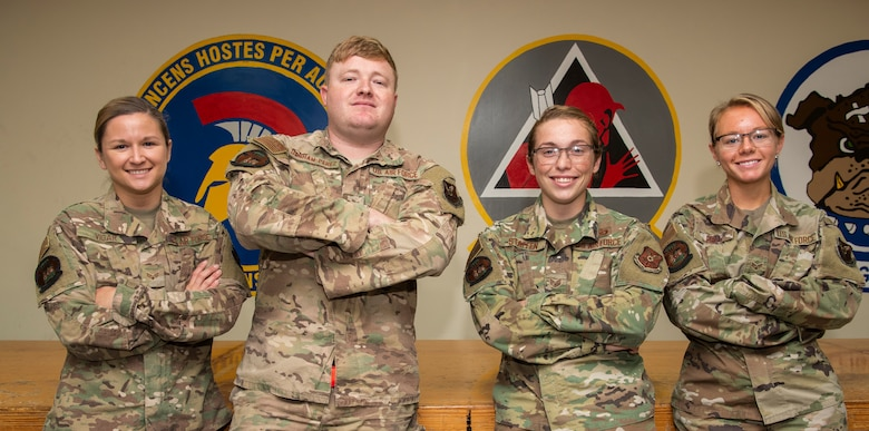 69th Expeditionary Bomb Squadron aircrew flight equipment Airmen pose for a photo at Andersen Air Force Base, Guam, Jan. 16, 2020.