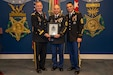Lt. Gen. Walter E. Piatt, Army Staff director, and Sgt. Maj. Mark A. Thompson, senior Army career counselor, presented Sgt. 1st Class Joey Thomas, assigned to U.S. Army Forces Command, with the Sgt. Maj. Jerome Pionk Excellence in Retention Medal during a ceremony in Arlington, Va., Jan 16, 2020. The award recognizes each recipient for their exceptional achievements and service as proponents of the Army's retention program. (Photo Credit: Devon L. Suits)