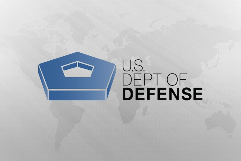A logo for the Department of Defense.