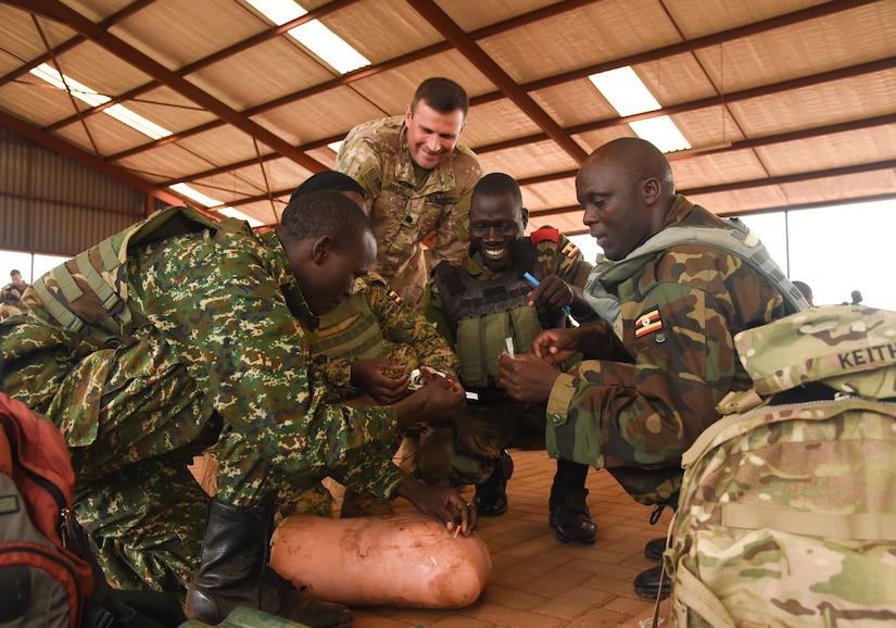 Ugandan Battle Group 22 conducts pred eployment training