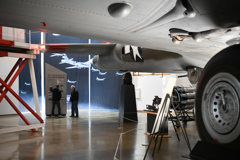 Visitors look at the Hill Aerospace Museum's exhibits Dec. 20, 2019, at Hill Air Force Base, Utah. The museum recently celebrated its 5 millionth visitor in November 2019. (U.S. Air Force photo by Cynthia Griggs)