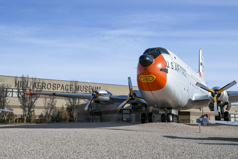 One of the outdoor aircraft static displays sits next to the entrance of the Hill Aerospace Museum at Hill Air Force Base, Utah. The museum recently celebrated its 5 millionth visitor in November 2019. (U.S. Air Force photo by Cynthia Griggs)