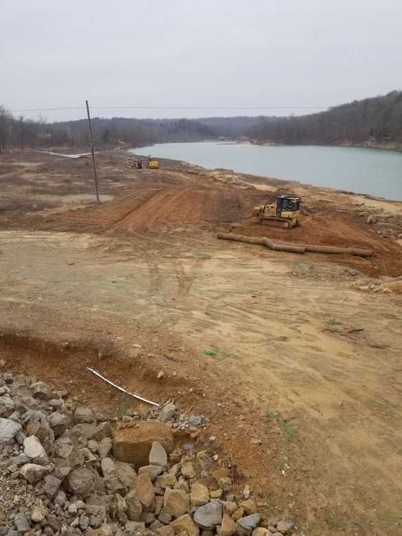 Repair work has started at Tecumseh Park on Norfork Lake.  The park was damaged during a high water event in 2017.