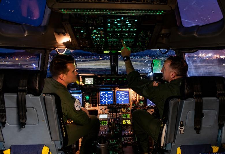 Pilots perform preflight operations