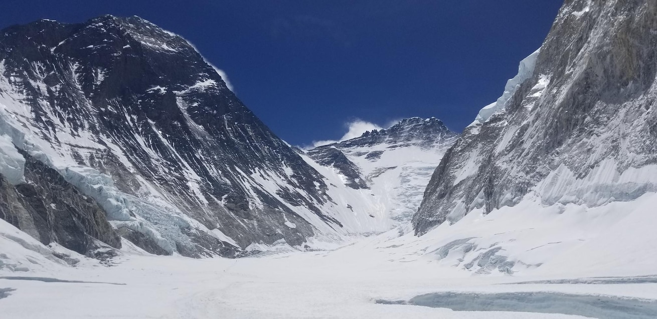 A photo  from the top of Mount Everest, May 23, 2019.  The photo was taken by Tech. Sgt. Daniel Wehrly, 931st Maintenance Squadron Technology craftsman, who summited Mount Everest with the help two friends and seven local Sherpas.  The journey took more than two months.