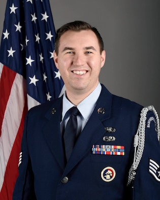 180th Fighter Wing's 2019 Honor Guard Member of the Year: Staff Sgt. Nathan Cousino
