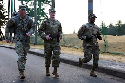 Camp Zama Service Members Commemorate MLK Day with 54-mile March