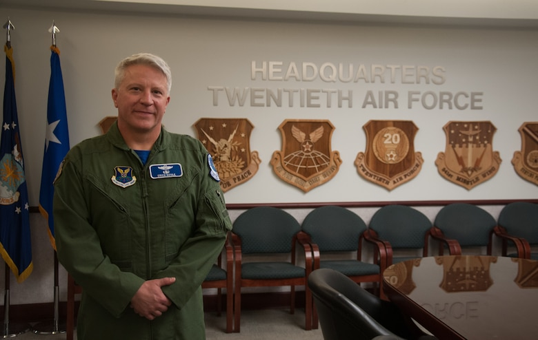 Brig. Gen. Erich Novak, Mobilization Assistant (MA) to the 20th Air Force commander, poses for a photo in the 20th Air Force Headquarters, F. E. Warren Air Force Base, Wyo., Dec. 17, 2019. Novak is leaving 20 AF after serving as the Mobilization Assistant (MA) to the 20 AF Commander for three years.