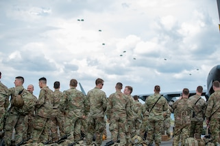 U.S. and Colombian paratroopers train together in Colombia.