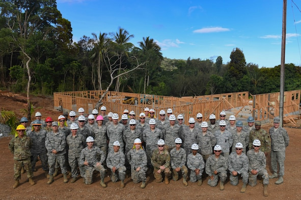 138th Fighter Wing squadrons support construction at Girl Scout camp