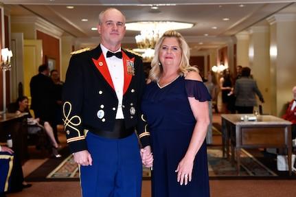 LTC Kendall Workman, left, with his wife, Sherri, during the Bronze Minuteman Awards Banquet June, 2019, at Little America, Salt lake City, Utah.