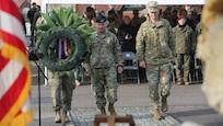 Polish monument rededication ceremony in Hohenfels Germany
