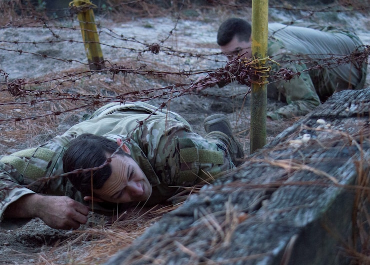 Twenty-four Airmen completed the 2019 Dragon Challenge at Pope Army Airfield Nov. 5-7. The annual three day competition is designed to prepare Airmen for the stress of combat includes a battlefield fitness test, shooting, casualty care, land navigation, obstacle course, knowledge test and combatives.