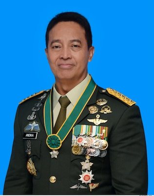 Photograph of General Andika Perkasa, Chief of Staff of Indonesian Army for his IHOF Induction Ceremony