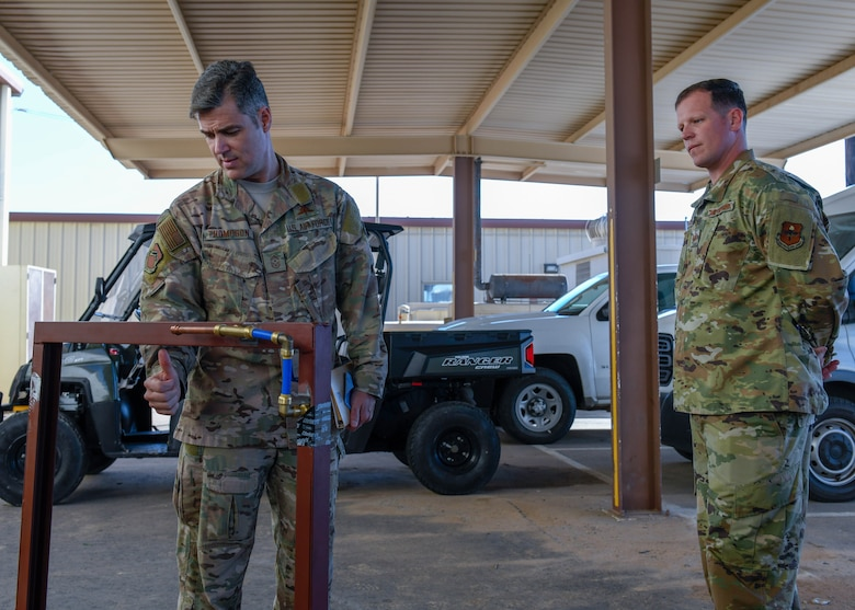 Command Chief visits CE Airmen