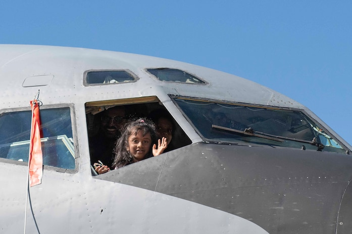 Children and families attend Aerospace and Aviation Day 2020.