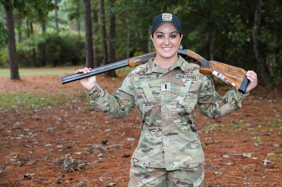U.S. Army Reserve 1st Lt. Amber English qualified for the 2021 Olympic Games Skeet Event upon conclusion of the Olympic Trials - Part 2 in Tucson, Arizona March 5-8. The Colorado Springs, Colorado, native won her first Olympic selection seat with a combined Part 1 and Part 2 score of 532, which included a perfect score of 25 in six of the ten rounds. English is assigned to the U.S. Army World Class Athlete Program and attached to the U.S. Army Marksmanship Unit's Shotgun Team for training at Fort Benning, Georgia.