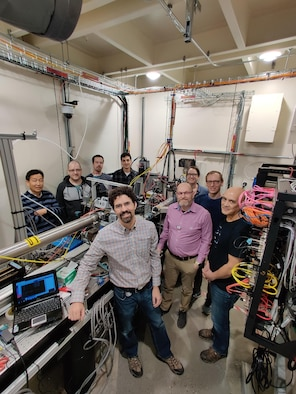 Air Force Research Laboratory and Cornell High Energy Synchrotron Source personnel collaborate at the Functional Materials Beamline of the Materials Solution Network section of CHESS. (Courtesy photo)