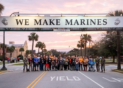 Educators and community influencers with Recruiting Station Richmond attend the Educator Workshop from Jan. 14-17, 2020 on Marine Corps Recruit Depot (MCRD) Parris Island, S.C. The participants visited MCRD Parris Island for a four-day period to observe recruit training and gain a better understanding of how recruits are transformed into Marines. (U.S. Marine Corps photo by Cpl. Cody J. Ohira)