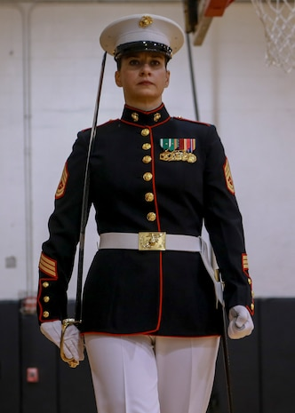 "The three-week CDS course teaches Marines the fundamentals of ceremonial drill that is unique to the ""Oldest Post of the Corps."""