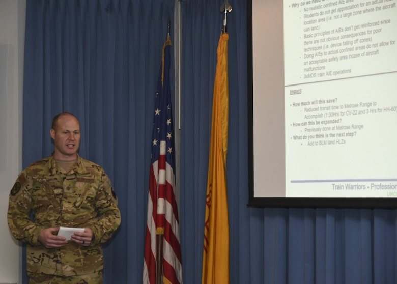 Photo of Airmen presenting.